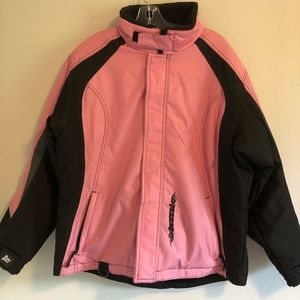 Mossi Pink and Black Jacket Coat size XL Women's